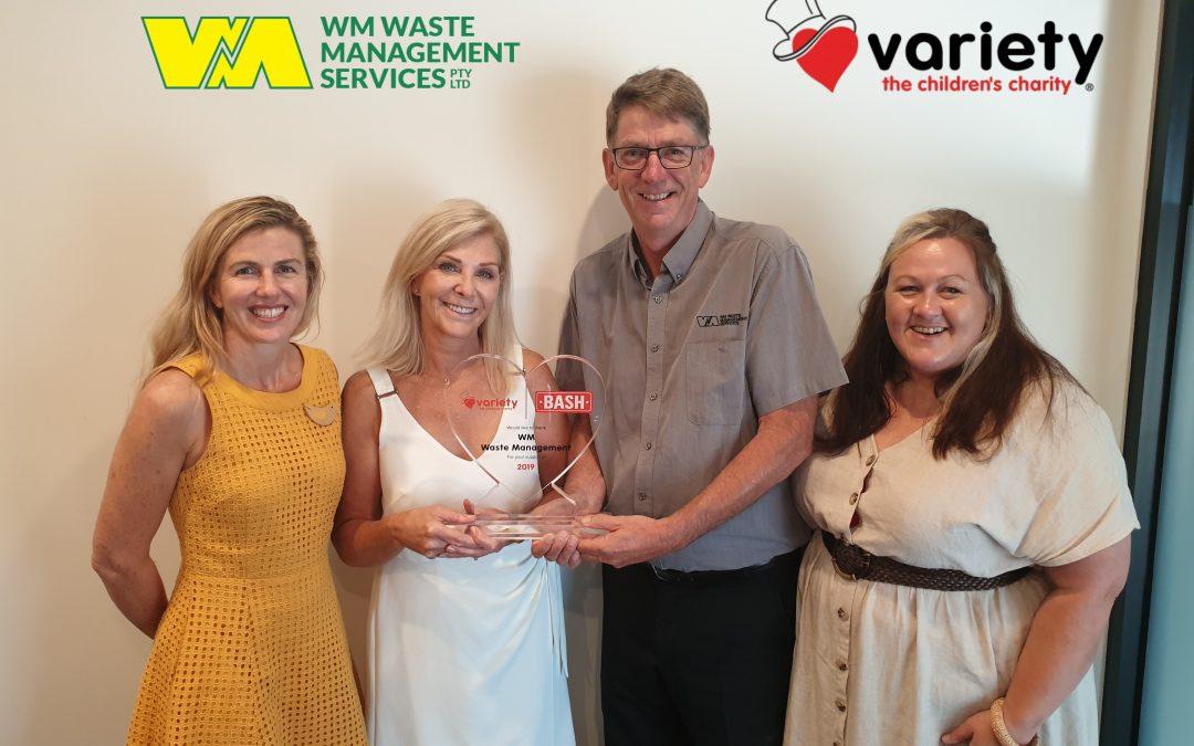 Variety thanks WM Waste Management